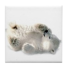 Baby Polar Bear Tile Coaster