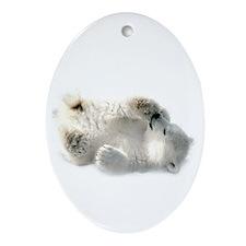 Baby Polar Bear Ornament (oval)