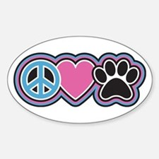 Peace Love Paw Bumper Stickers