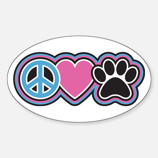 Peace Love Paw Decal
