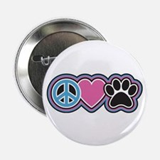 """Peace Love Paws 2.25"""" Button (10 pack)"""