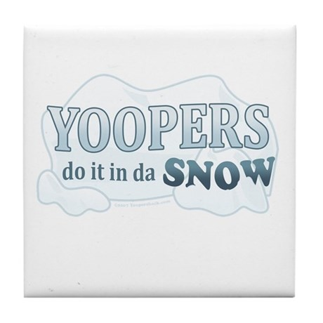 Do It In Da Snow Tile Coaster