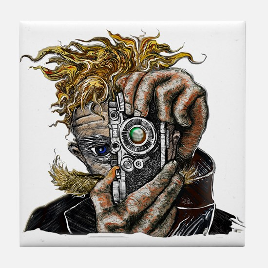 Photographer ART Tile Coaster