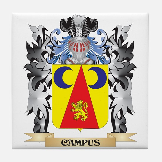 Campus Coat of Arms - Family Crest Tile Coaster