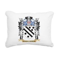 Candlemaker Coat of Arms Rectangular Canvas Pillow