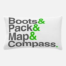 Boots & Pack & Map & Compass. Pillow Case