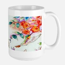 Hummingbirds Flowers Landscape Mugs