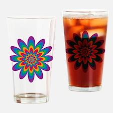 Infinite Flower  Spectrum Drinking Glass
