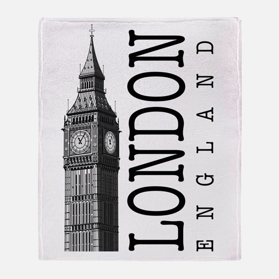 London Big Ben Throw Blanket