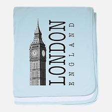 London Big Ben baby blanket