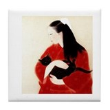 Japanese cat woman Drink Coasters