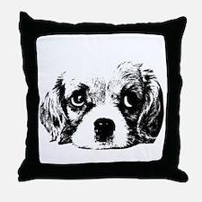 (kids) Sad Puppy Face Throw Pillow