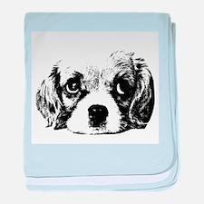 (kids) Sad Puppy Face baby blanket