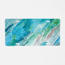 """Vibrant Flow"" Aluminum License Plate"