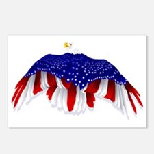 American Eagle Flag Postcards (Package of 8)