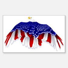 American Eagle Flag Decal