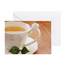 Tea cup with mint Greeting Card