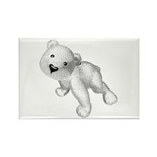 Baby Polar Bear Rectangle Magnet (100 pack)
