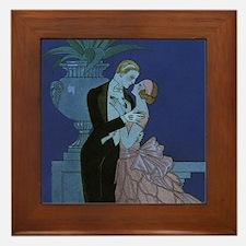 Vintage Art Deco Framed Tile