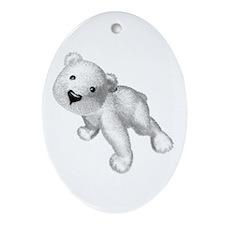 Baby Polar Bear Oval Ornament