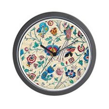 Country Floral, Birds, Bees, Wall Clock