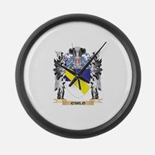 Carlo Coat of Arms - Family Crest Large Wall Clock