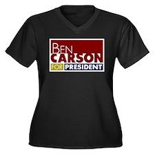 Ben Carson f Women's Plus Size V-Neck Dark T-Shirt