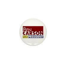 Ben Carson for President V1 Mini Button (10 pack)