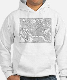 Vintage Map of Pittsburgh (1885) Hoodie