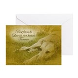 Greyhound sympathy Greeting Cards (10 Pack)