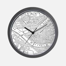 Vintage Map of Pittsburgh (1885) Wall Clock