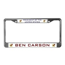 Ben Carson for President USA License Plate Frame