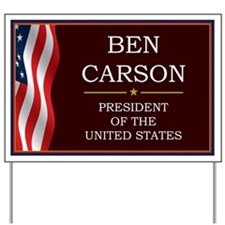 Ben Carson for President V3 Yard Sign