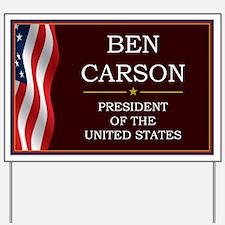 Ben Carson for President V3 Yard Sign