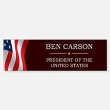 Ben Carson for President V3 Bumper Bumper Sticker
