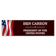 Ben Carson for President V3 Bumper Sticker
