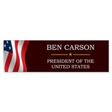 Ben Carson for President V3 Bumper Sticker