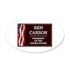 Ben Carson for President V3 Oval Car Magnet