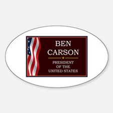 Ben Carson for President V3 Sticker (Oval)