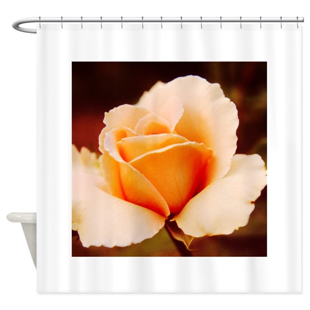 Peach Rose Shower Curtain by NancysArtAffair