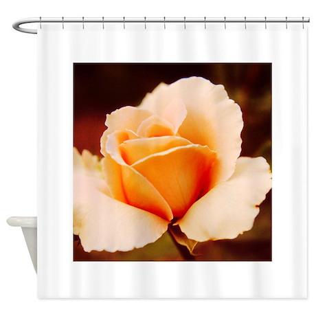 Peach Rose Shower Curtain By NancysArtAffair