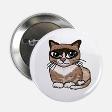 Snowshoe Cat Lover Button