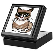Snowshoe Cat Lover Keepsake Box
