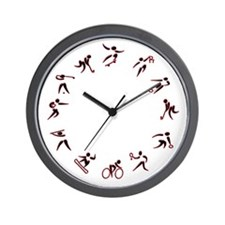 My Sport Clock Style A Red Tone Wall Clock