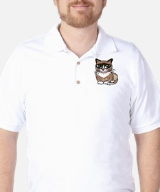Snowshoe Cat Lover Golf Shirt