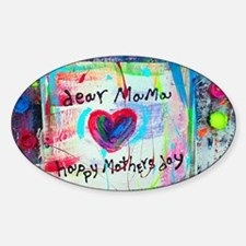 dear mama Sticker (Oval)