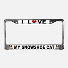 Snowshoe Cat Lover License Plate Frame