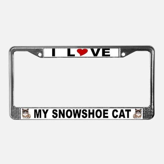 Snowshoe Cat Lover License Plate Frame