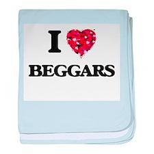 I love Beggars baby blanket