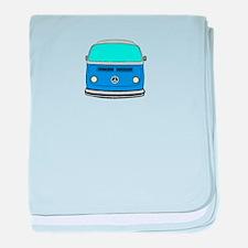 blue camper baby blanket